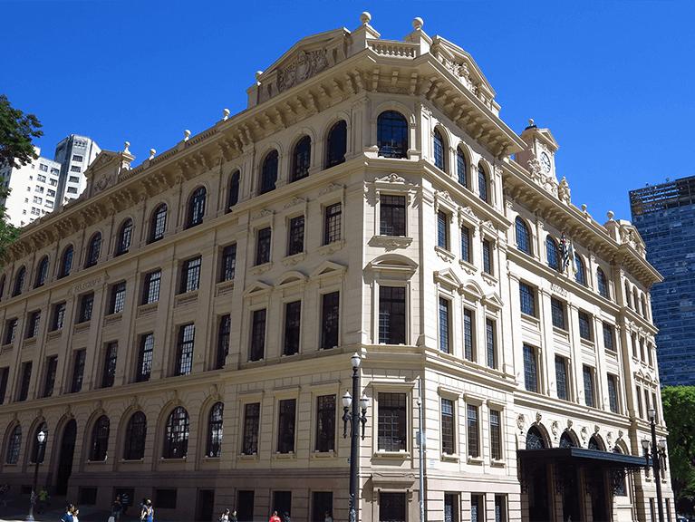 Foto da fachada do Centro Cultural de São Paulo