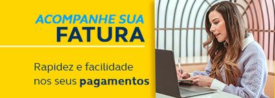 Praticidade no pagamento - Notebook cinza com tela amarela e azul