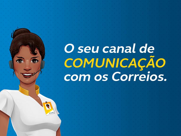 Ilustração da Carol (Atendente Virtual). O seu canal de comunicação dos Correios.