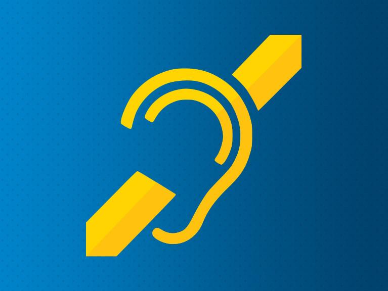 Logotipo indicativo de deficiência auditiva