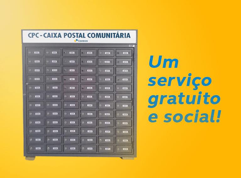 Armário com várias caixa de correios para o recebimento de correspondência da comunidade